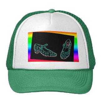 zapatos neon moderno colores vivos gorras