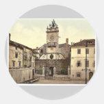 Zara, Signori Square, Dalmatia, Austro-Hungary rar Round Sticker