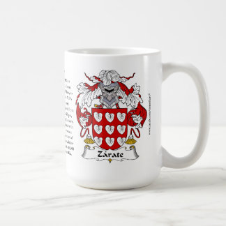 Zarate, the Origin, the Meaning and the Crest Coffee Mug