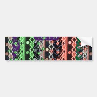 ZARI Embroidery Frill Fabric PRINT : Diva Fashion Bumper Sticker