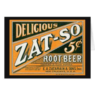 Zat-So 5¢ Root Beer Card
