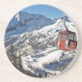 Zauchensee Ski Resort Beverage Coasters