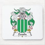 Zavala Family Crest Mouse Pads