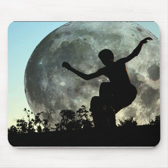 ZAZ103.Sk8ter Moon Launch. Mouse Mat
