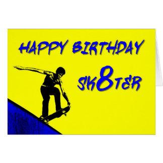 ZAZ256 Happy Birthday Sk8ter Card