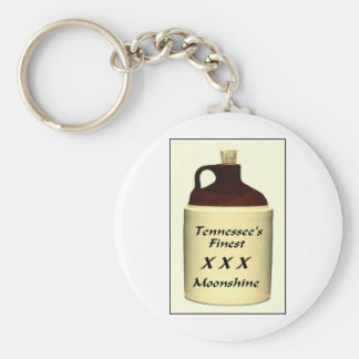 ZAZ429 TN Moonshine Basic Round Button Key Ring