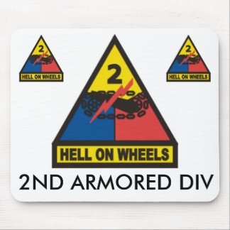 zaz-2ND ARMORED DIV Mouse Mat