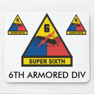 zaz-6TH ARMORED DIV Mouse Pad