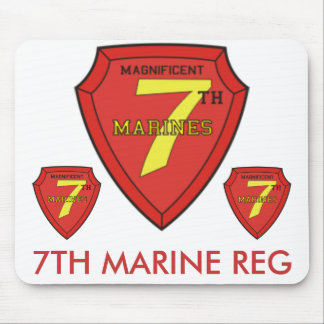 zaz-7TH MARINE Mouse Pad