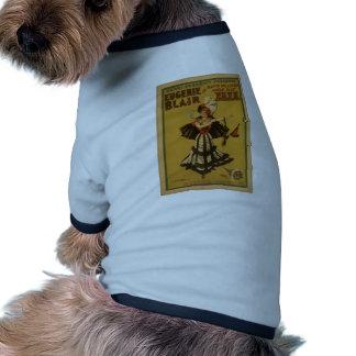 Zaza, 'Eugenie Blair' Vintage Theater Doggie T Shirt