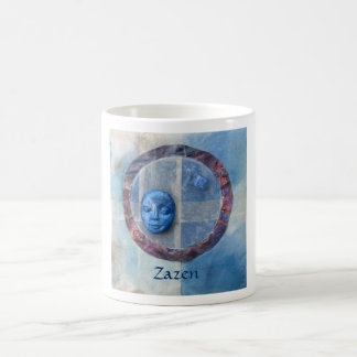 Zazen Under Azure Skies - collage Basic White Mug