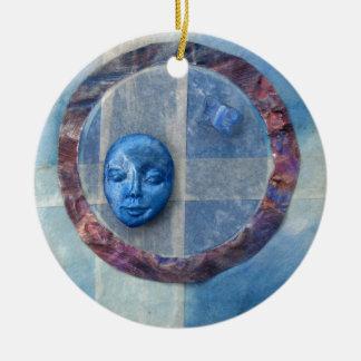 Zazen Under Azure Skies - collage Christmas Ornament
