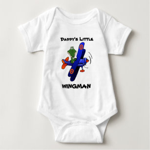 zazzle2, Daddy's Little, WINGMAN Baby Bodysuit