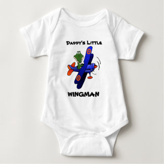 zazzle2, Daddy's Little, WINGMAN Baby Bodysuit