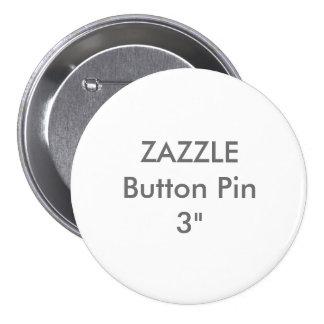 "Zazzle Blank Custom 3"" Large Button Pin"