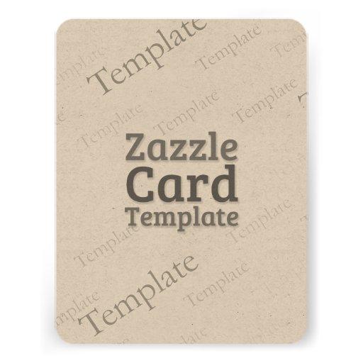 Zazzle Card Custom Template Enviroment Invite