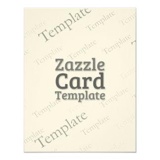 Zazzle Card Custom Template Felt Cream Invite