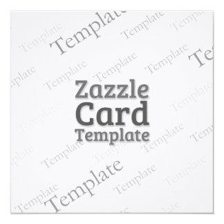 Zazzle Card  Custom Template  Laid Ivory Invite