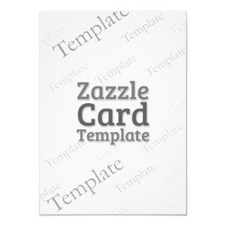 Zazzle Card Custom Template Linen White Invite