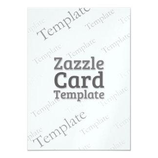 Zazzle Card Custom Template Metallic Ice Invite
