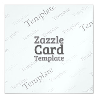 Zazzle Card Custom Template  Metallic Invite