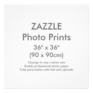 "Zazzle Custom 36"" x 36"" Photo Print Template"