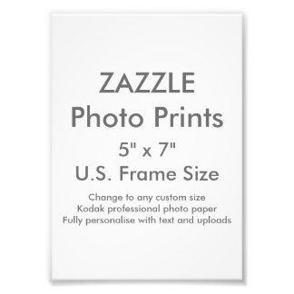 """Zazzle Custom 5"""" x 7"""" Photo Print (US Frame Size)"""