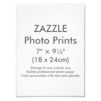 "Zazzle Custom 7"" × 9½"" Photo Print Template"