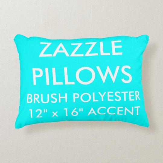 Zazzle Custom AQUA BLUE Polyester Accent Pillow
