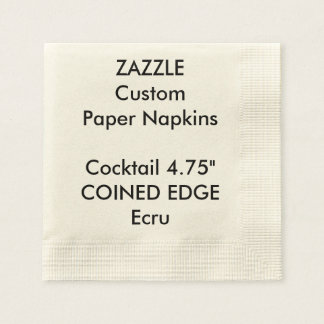 Zazzle Custom Coined Edge Cocktail Paper Napkins Paper Napkin