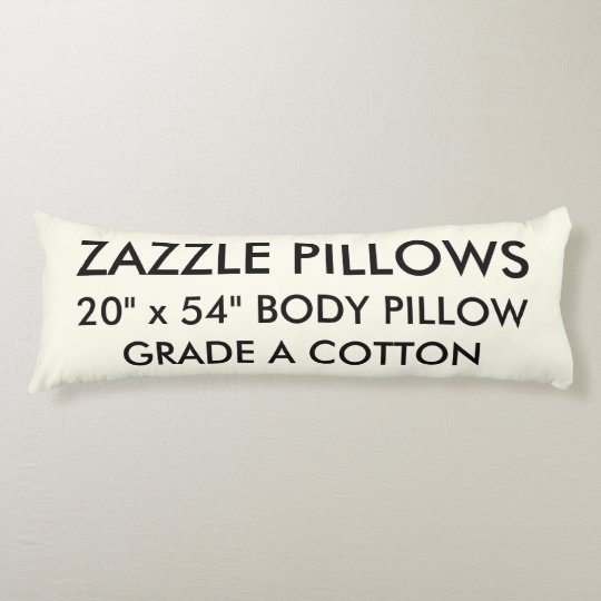 Zazzle Custom IVORY Grade A Cotton Body Pillow
