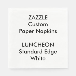 Zazzle Custom Large WHITE Luncheon Paper Napkins Paper Napkin