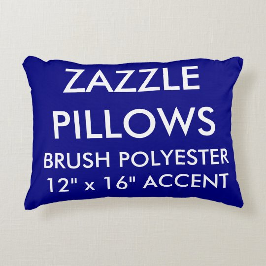 Zazzle Custom NAVY BLUE Polyester Accent Pillow
