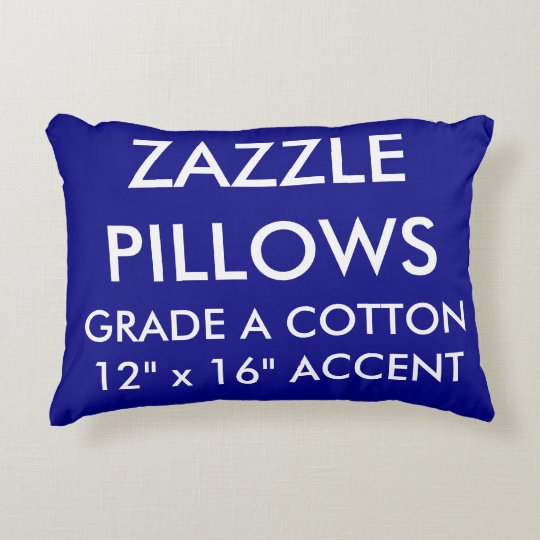 Zazzle Custom NAVY Cotton Accent Pillow Template