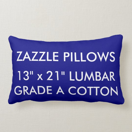 Zazzle Custom NAVY Cotton Lumbar Pillow Template