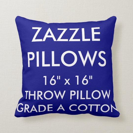 Zazzle Custom NAVY Grade A Cotton Throw Pillow