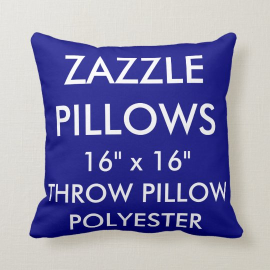 Zazzle Custom NAVY Polyester Throw Pillow Blank