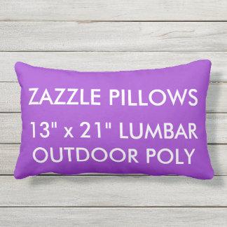 Zazzle Custom ORCHID PURPLE Outdoor Lumbar Pillow