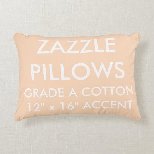 Zazzle Custom PEACH Cotton Accent Pillow Template