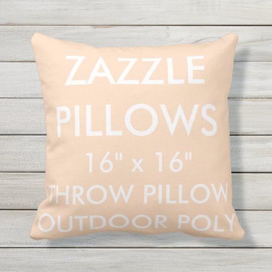 Zazzle Custom PEACH Outdoor Throw Pillow Template