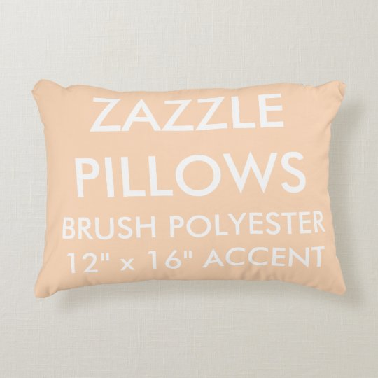 Zazzle Custom PEACH Polyester Accent Pillow