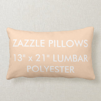 Zazzle Custom PEACH Polyester Lumbar Pillow