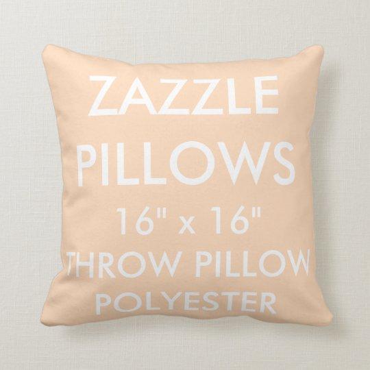 Zazzle Custom PEACH Polyester Throw Pillow Blank