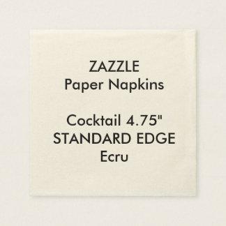 ZAZZLE Custom Plain Edge Cocktail Paper Napkins