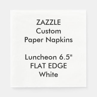 Zazzle Custom Plain Edge Luncheon Paper Napkins