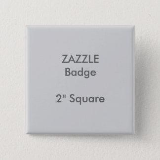 "ZAZZLE Custom Printed 2"" Square Badge GREY"