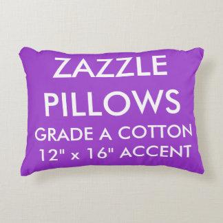 Zazzle Custom PURPLE Cotton Accent Pillow Template
