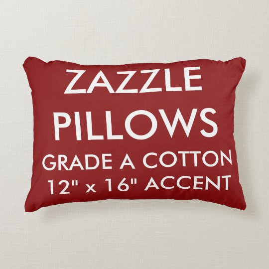 Zazzle Custom RED Cotton Accent Pillow Template