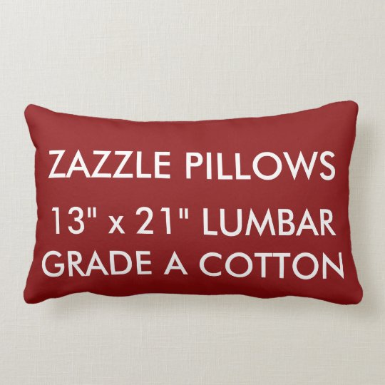 Zazzle Custom RED Cotton Lumbar Pillow Template