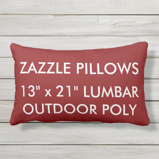 Zazzle Custom RED Outdoor Lumbar Pillow Template